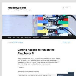 Getting hadoop to run on the Raspberry Pi