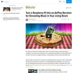 Turn a Raspberry Pi Into an AirPlay Receiver for Streaming Music in Your Living Room