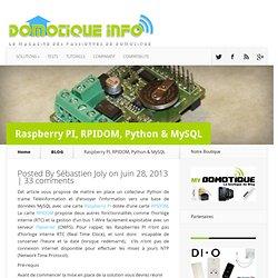 Raspberry PI, RPIDOM, Python & MySQL