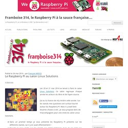 Le Raspberry Pi au salon Linux Solutions