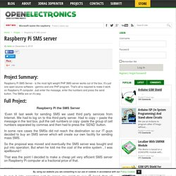 Raspberry Pi SMS server - Open Electronics