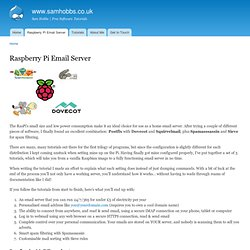 Raspberry Pi Email Server