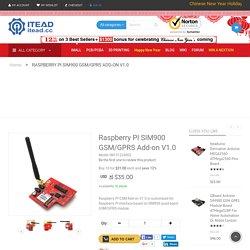 Raspberry PI SIM900 GSM/GPRS Add-on V1.0