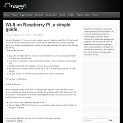 Wi-fi on Raspberry Pi, a simple guide - RaspyFi