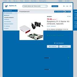 Raspberry Pi 3 Starter Kit (Onboard, Speziell) - Mainboard - Galaxus