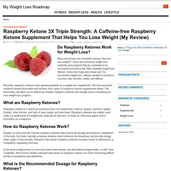 Raspberry Ketone 3X Triple Strength: A Caffeine-free Supplement That Helps You Lose Weight