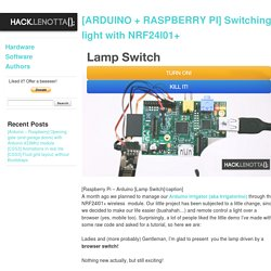 [ARDUINO + RASPBERRY PI] Switching light with NRF24l01+