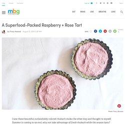 Raw Raspberry Tart (Vegan, Gluten-Free)