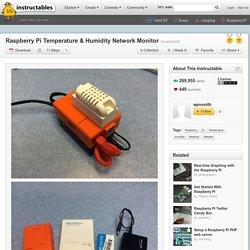 Raspberry Pi Temperature & Humidity Network Monitor