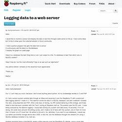 Logging data to a web server