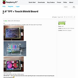 "2.8"" TFT + Touch Shield Board"