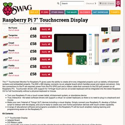 "Raspberry Pi 7"" Touchscreen Display - Raspberry Pi Swag"