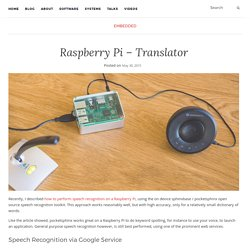 Raspberry Pi – Translator – Wolf Paulus