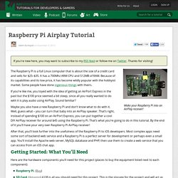 Raspberry Pi Airplay Tutorial