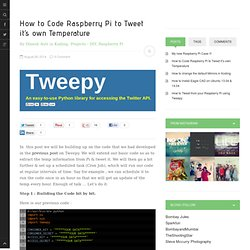 How to Code Raspberry Pi to Tweet it's own Temperature - AW
