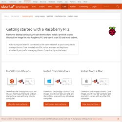 Ubuntu developer portal