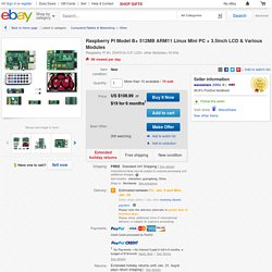 Raspberry Pi Model B 512MB ARM11 Linux Mini PC 3 5inch LCD Various Modules