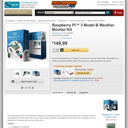 Raspberry Pi Raspberry Pi™ 3 Model B Weather Monitor Kit