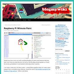 Raspberry Pi Wiimote Paint