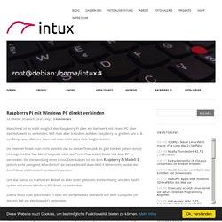 Raspberry Pi mit Windows PC direkt verbinden » intux