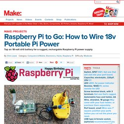 Portable Pi Power: Raspberry Pi to Go