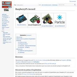 RaspberryPi-Accueil — MCHobby - Wiki