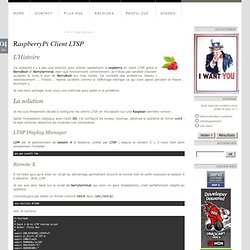 RaspberryPi Client LTSP