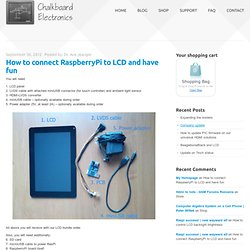 How to connect RaspberryPi to LCD and have fun | Chalkboard Electronics