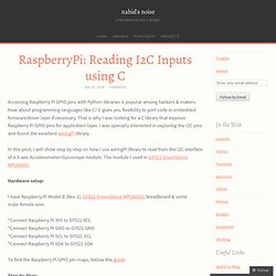 RaspberryPi: Reading I2C Inputs using C