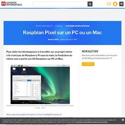 Raspbian Pixel sur un PC ou un Mac