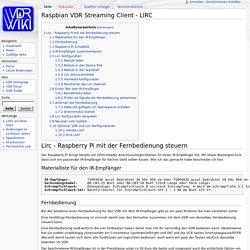 Raspbian VDR Streaming Client - LIRC – VDR Wiki