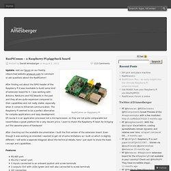 RasPiComm – a Raspberry Pi piggyback board