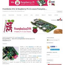 RaspiO'Mix+ : des E/S compatibles Grove pour le Raspberry Pi