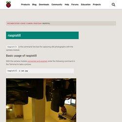 raspistill - Raspberry Pi Documentation