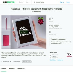 Raspitab – the first tablet with Raspberry Pi inside by Henrik Warrer