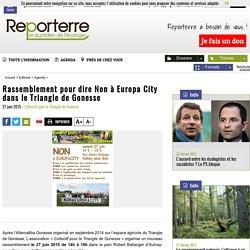 Comment certains acteurs s'opposent-ils au projet Europa City? Qui sont-ils en particulier?