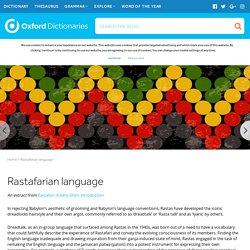 Rastafarian language