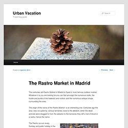 The Rastro Market in Madrid