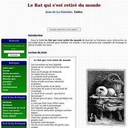 Le Rat qui s'est retiré du monde - Jean de La Fontaine
