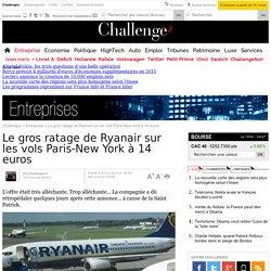 Le gros ratage de Ryanair sur les vols Paris-New York à 14 euros