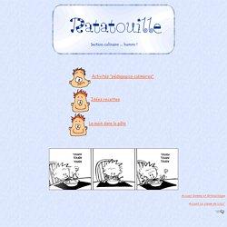 Activités pédagogico-culinaires * Ratatouille *
