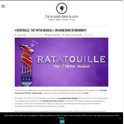 """""""Ratatouille : The TikTok Musical"""" , un show digne de Broadway !"""