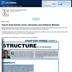 how to draw female comic characters (according to Wizard)...