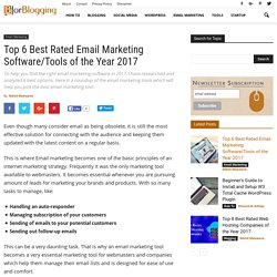 Best Rated Email Service Providers of the Year 2017