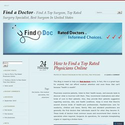How to Find a Top Rated Physicians Online