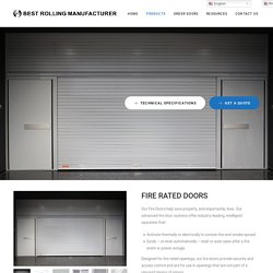 FIRE RATED DOORS – Best Rolling Manufacturer