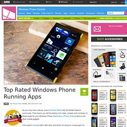 Top Rated Windows Phone Running Apps