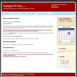 Rates and ReservationsbySouthgate RV Park