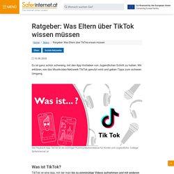 Ratgeber: Was Eltern über TikTok wissen müssen - saferinternet.at