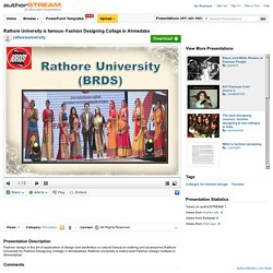 Rathore University - Fashion Design Courses in Ahmedabad